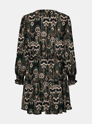 Khaki vzorované šaty ONLY