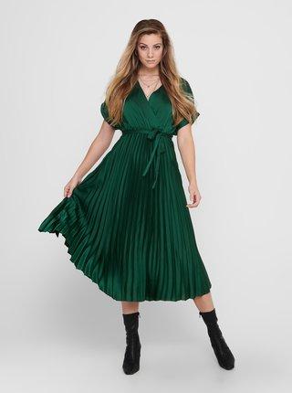 Zelené plisované midišaty ONLY