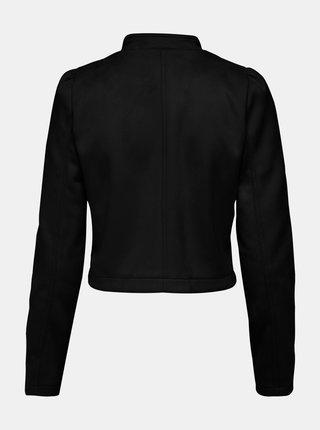 Černá bunda v semišové úpravě ONLY