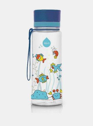 Modrá plastová fľaša s potlačou EQUA 400 ml