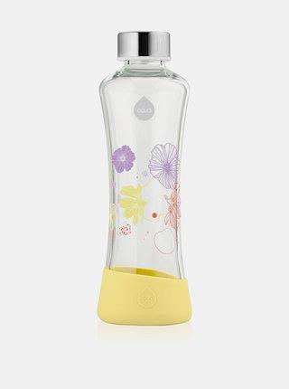 Žlutá skleněná lahev s potiskem EQUA Daisy (550 ml)