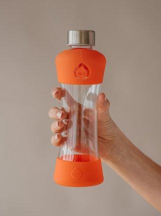 Oranžová skleněná lahev EQUA ACTIVE (550 ml)