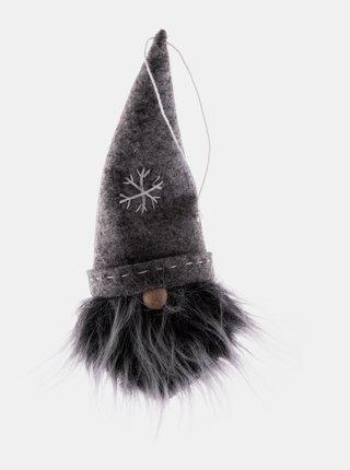 Závesná textilná vianočná dekorácia v čiernej farbe Dakls