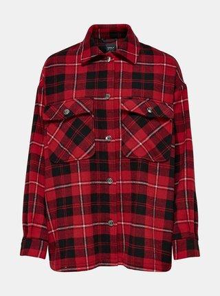 Červená kostkovaná košile ONLY-Elect