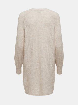 Krémové svetrové šaty ONLY