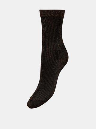 Černé třpytivé ponožky v dárkové krabičce ONLY