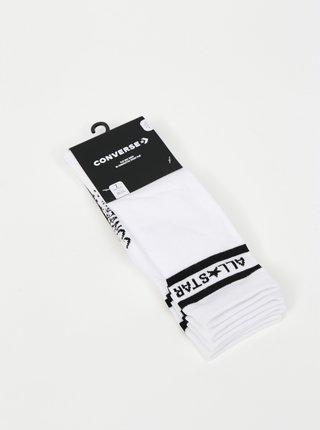 Sada dvou párů bílých dámských ponožek Converse