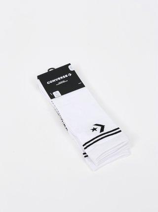 Sada dvou párů bílých dámských ponožek Converse Star Chevron