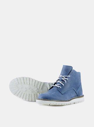 Modré kožené kotníkové boty Vasky City blue