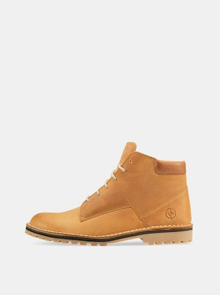 Hnědé kožené kotníkové boty Vasky Hillside Caramel
