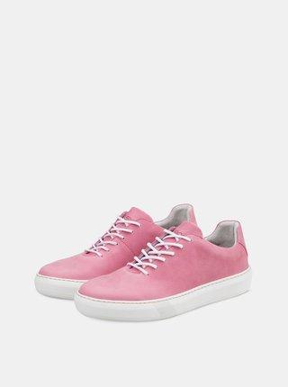 Ružové dámske kožené tenisky Vasky