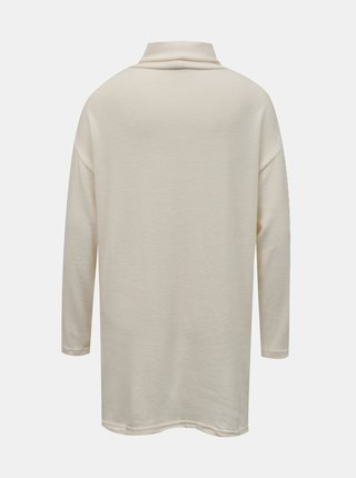 Krémový dlouhý svetr se stojáčkem TALLY WEiJL