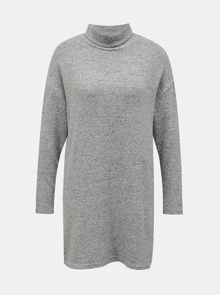Šedý dlhý sveter so stojáčikom TALLY WEiJL