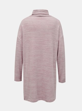 Růžový dlouhý svetr se stojáčkem TALLY WEiJL