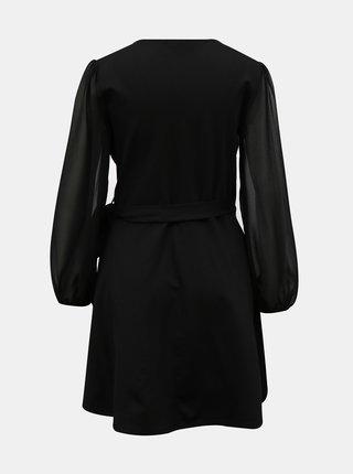 Černé zavinovací šaty TALLY WEiJL