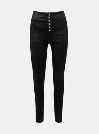Černé skinny fit kalhoty s hadím vzorem TALLY WEiJL