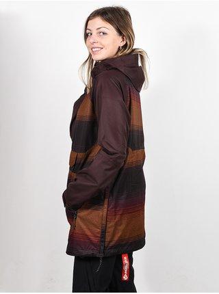 Volcom Mirror STRIPE zimní dámská bunda - hnědá