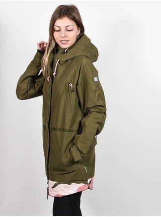 Dc RIJI olive night zimní dámská bunda - zelená