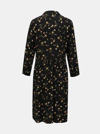 Černé květované košilové šaty Tom Joule