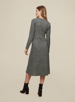 Šedé kostkované šaty s knoflíky Dorothy Perkins