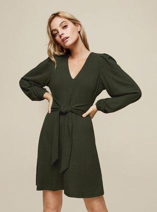 Zelené šaty se zavazováním Dorothy Perkins Petite