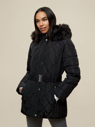 Černá zimní prošívaná bunda Dorothy Perkins
