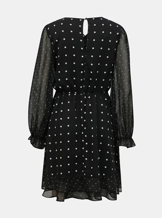 Čierne bodkované šaty Miss Selfridge