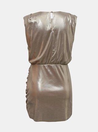 Púzdrové lesklé šaty v zlatej farbe Miss Selfridge