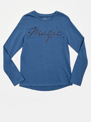 Modré holčičí tričko s potiskem name it