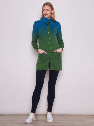 Zelený dámsky dlhý kardigan Tranquillo