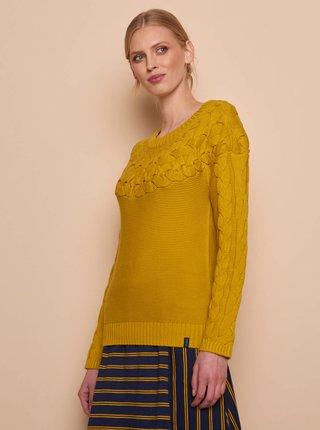 Horčicový dámsky sveter Tranquillo
