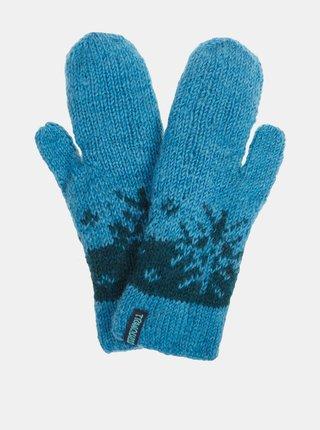 Modré dámske vlnené rukavice Tranquillo