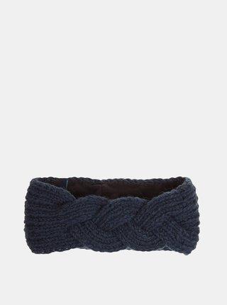 Tmavě modrá dámská vlněná čelenka Tranquillo