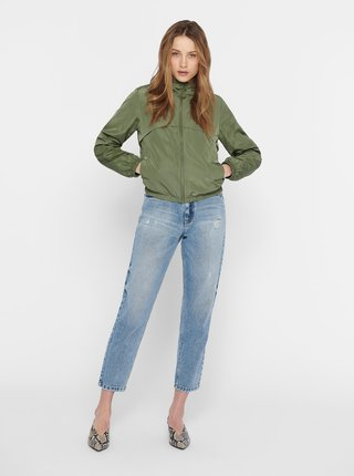 Zelená ľahká bunda s kapucou Jacqueline de Yong Reach