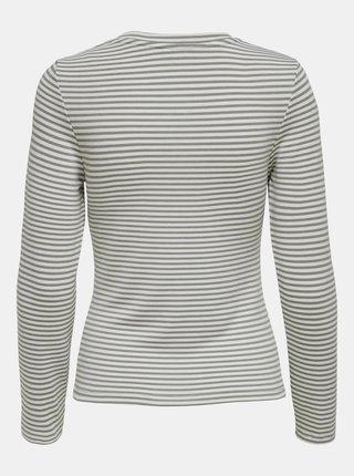 Šedé pruhované tričko ONLY Zigga