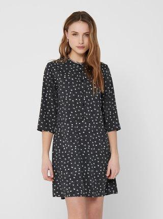 Čierne vzorované šaty Jacqueline de Yong Ora