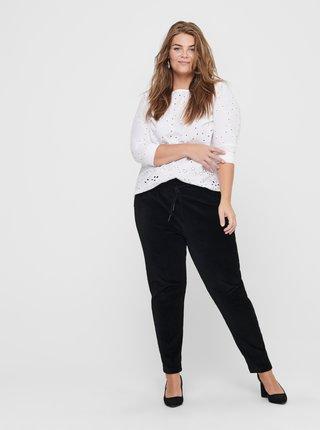 Černé manšestrové kalhoty ONLY CARMAKOMA