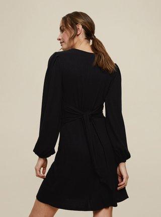 Černé šaty se zavazováním na zádech Dorothy Perkins