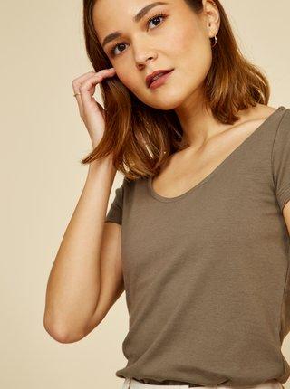 Kaki dámske basic tričko ZOOT Baseline Nora