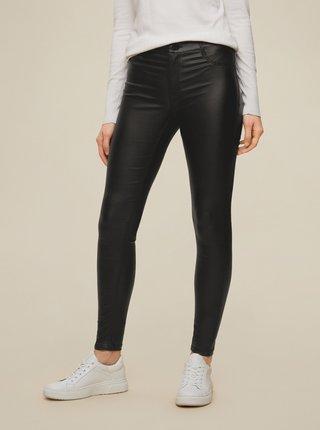 Čierne koženkové skinny fit nohavice Dorothy Perkins