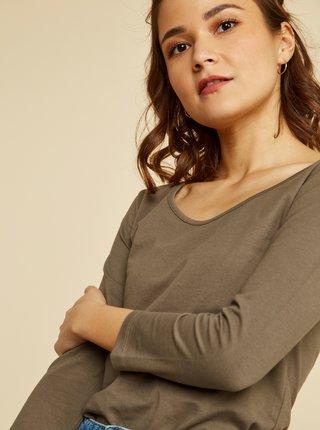 Khaki dámské basic tričko ZOOT Baseline Theresa
