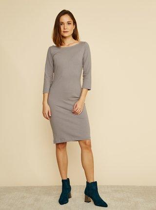 Šedé púzdrové basic šaty ZOOT Baseline Polli
