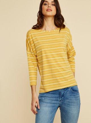 Žluté dámské pruhované tričko ZOOT Kleopatra