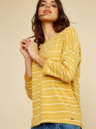 Žlté dámske pruhované tričko ZOOT Kleopatra