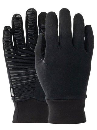 POW Poly Pro TT Liner black zimní prstové rukavice - černá