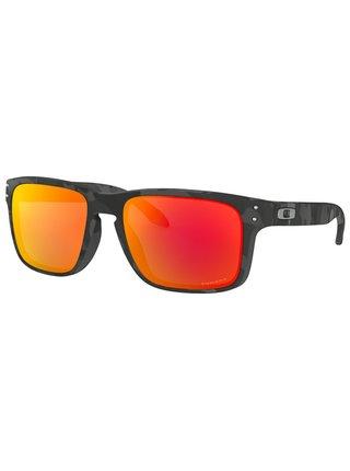 Oakley Holbrook Black Camo w/ PRIZM Ruby sluneční brýle pilotky - černá