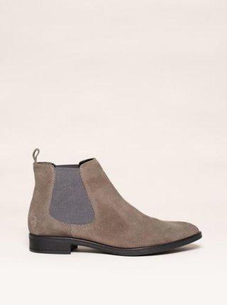 Béžové dámské semišové chelsea boty Brakeburn