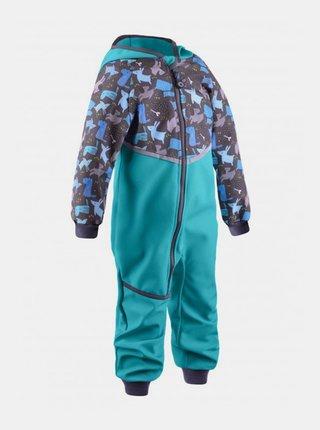 Modrá chlapčenská zimná softshellová kombinéza Unuo