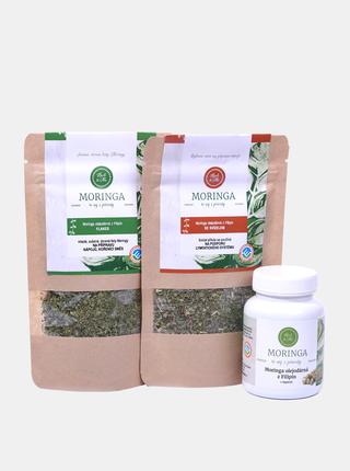 Sada kapslí a bylinných směsí Moringa Herb & Me - Lymfa, odkyselení