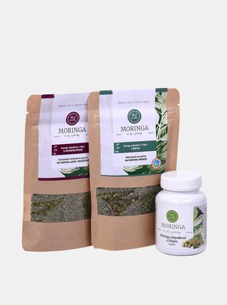 Sada kapslí a bylinných směsí Moringa Herb & Me - Imunita